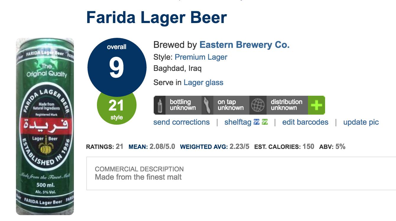 Farida beer